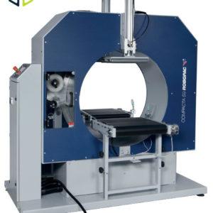 Envolvedora orbital semiautomática de anillo giratorio para envolver en espiral con film extensible