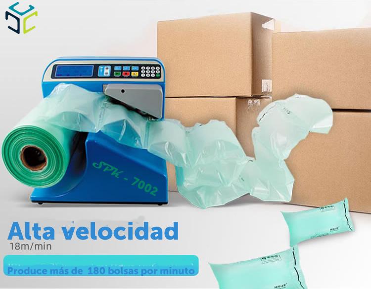 relleno proteccion bolsa aire ecologico compostable spk 7002 velocidad