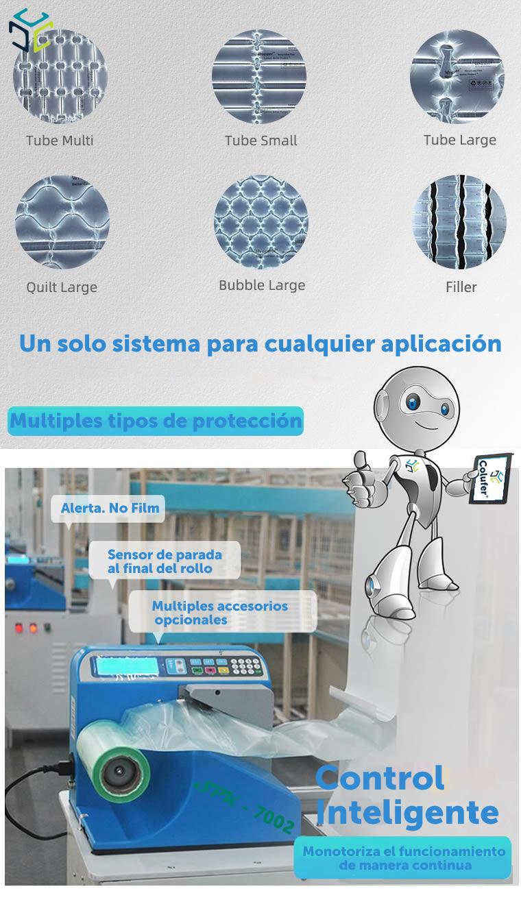 relleno proteccion bolsa aire ecologico compostable spk 7002 materiales