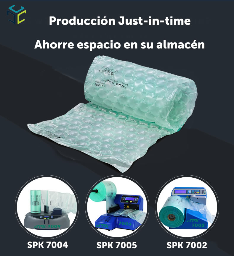 relleno proteccion envoltura burbuja wrapper spk ecologico