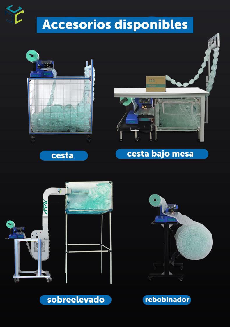 relleno proteccion bolsa aire ecologico compostable spk 7005 accesorios