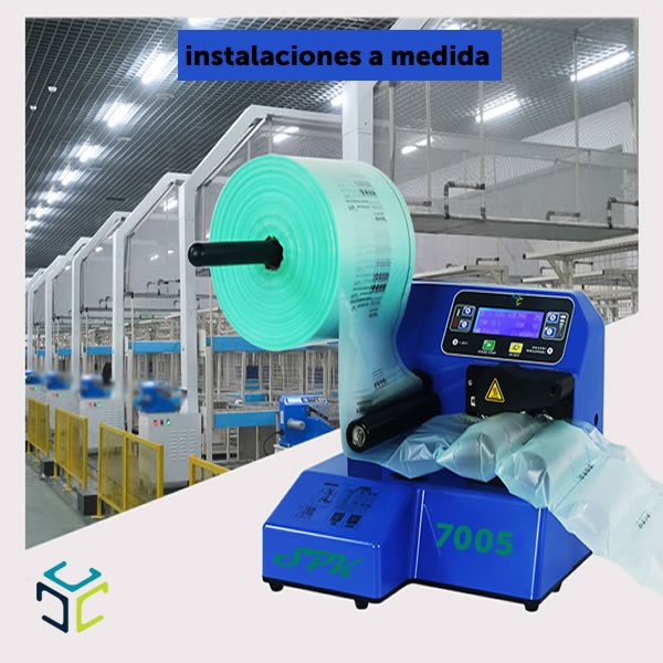 relleno proteccion bolsa aire ecologico compostable spk 7005 instalaciones